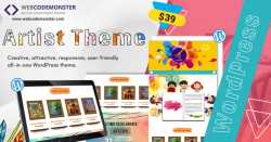 Artists WordPress Template
